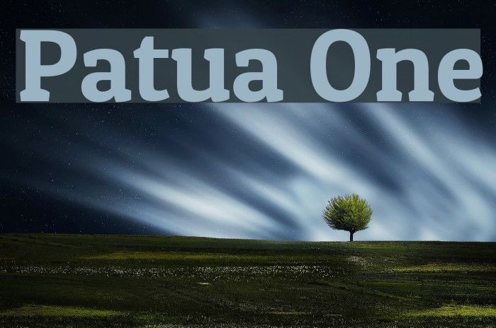 Patua One Font examples