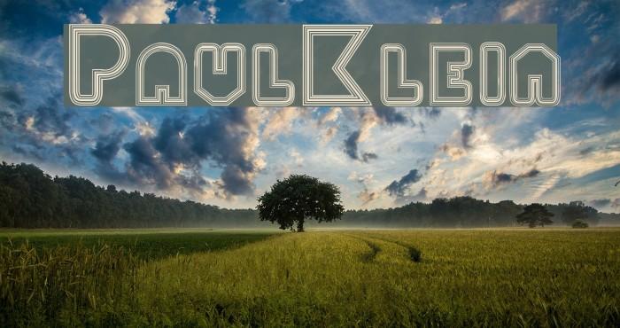 PaulKlein फ़ॉन्ट examples