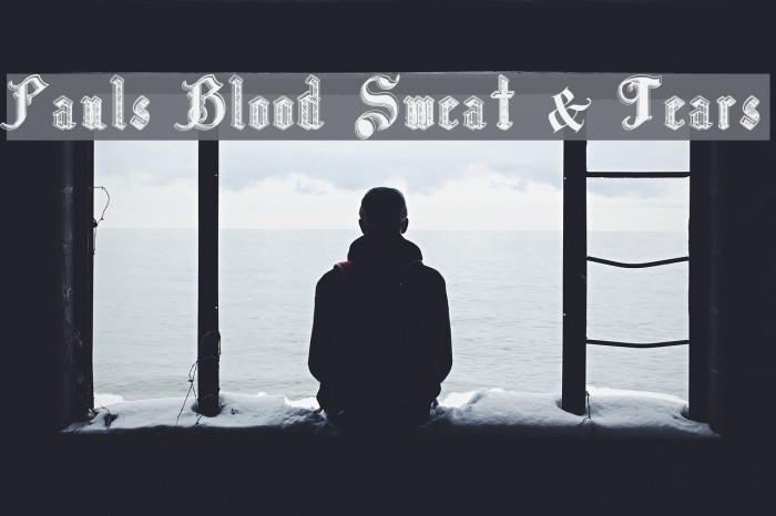 Pauls Blood Sweat & Tears Font examples