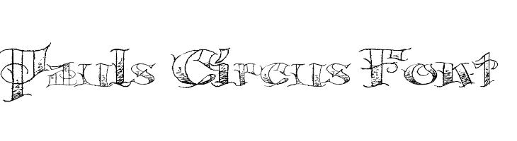 Pauls Circus Font  Скачать бесплатные шрифты