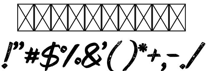 PaxSuyudz Free Font OTHER CHARS