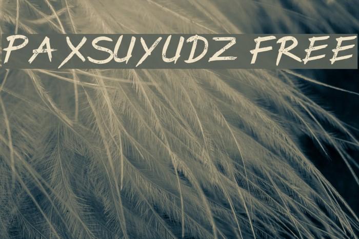 PaxSuyudz Free Font examples