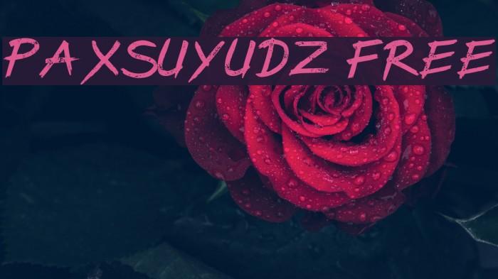 PaxSuyudz Free 字体 examples