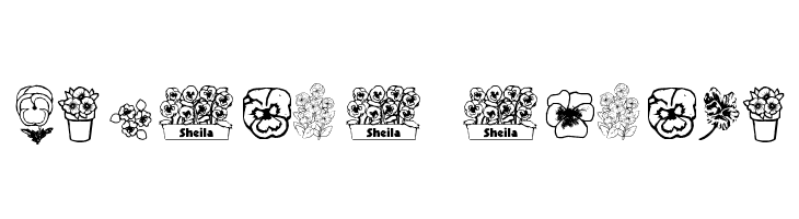 pansies4sheila  नि: शुल्क फ़ॉन्ट्स डाउनलोड