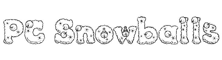 PC Snowballs  baixar fontes gratis