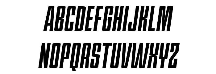 PC.DE Bold Italic फ़ॉन्ट अपरकेस