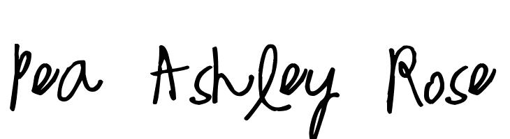 Pea Ashley Rose  フリーフォントのダウンロード