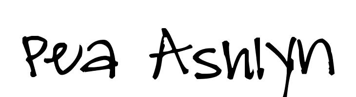 Pea Ashlyn  Скачать бесплатные шрифты