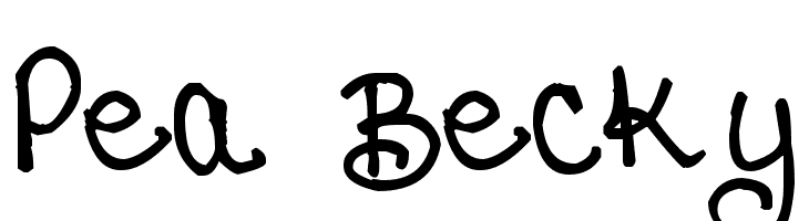 Pea Becky  Free Fonts Download