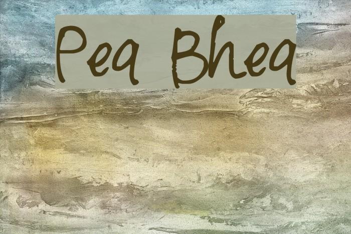 Pea Bhea Font examples