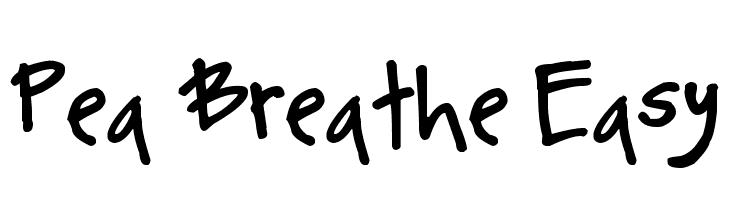 Pea Breathe Easy Font