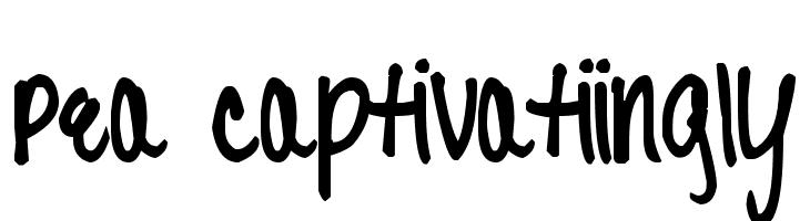 Pea Captivatiingly Font