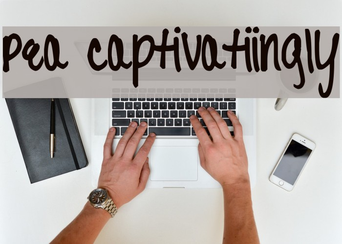 Pea Captivatiingly Font examples