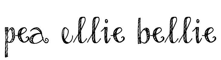 Pea Ellie Bellie  Frei Schriftart Herunterladen