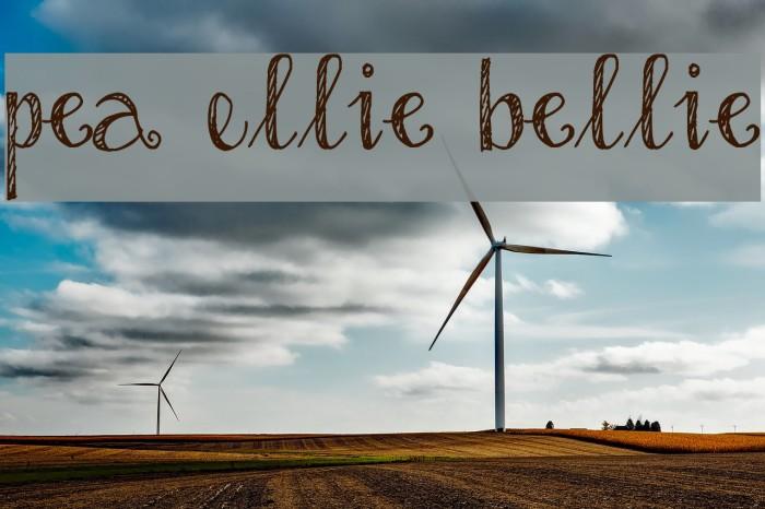 Pea Ellie Bellie Schriftart examples