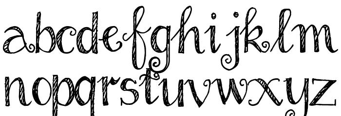 Pea Ellie Bellie Schriftart Kleinbuchstaben