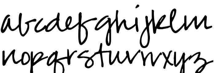 Pea Jenny Script Font LOWERCASE