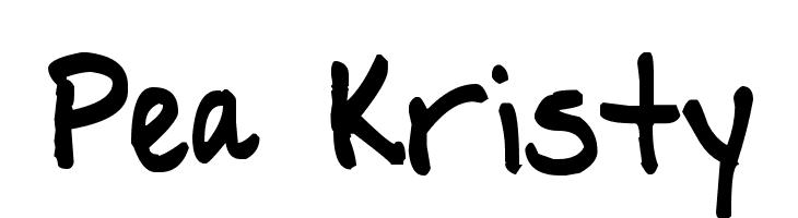Pea Kristy  नि: शुल्क फ़ॉन्ट्स डाउनलोड