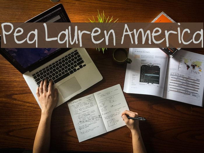 Pea Lauren America Fonte examples