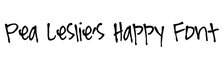 Pea Leslie's Happy Font  Скачать бесплатные шрифты