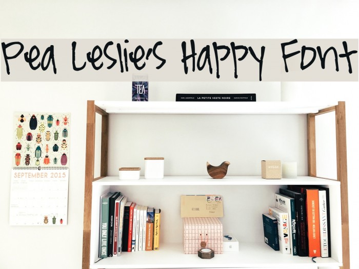 Pea Leslie's Happy Font Шрифта examples