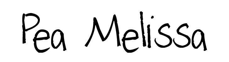 Pea Melissa  नि: शुल्क फ़ॉन्ट्स डाउनलोड