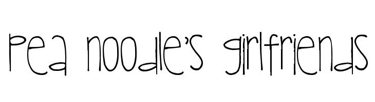 Pea Noodle's Girlfriends Font
