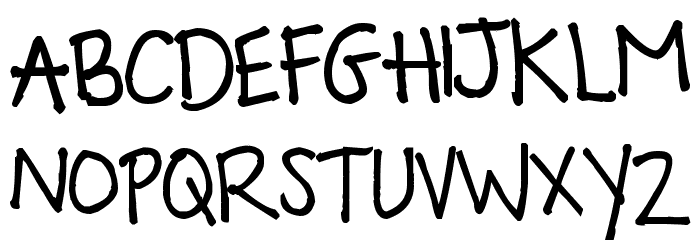 Pea Picky Panda لخطوط تنزيل الأحرف الكبيرة