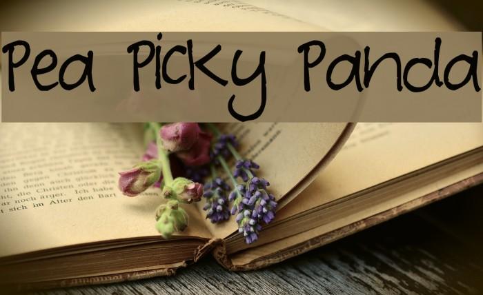 Pea Picky Panda لخطوط تنزيل examples