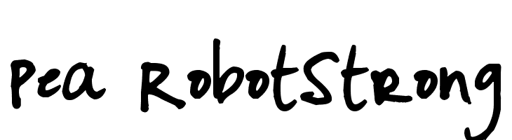 Pea RobotStrong  Free Fonts Download
