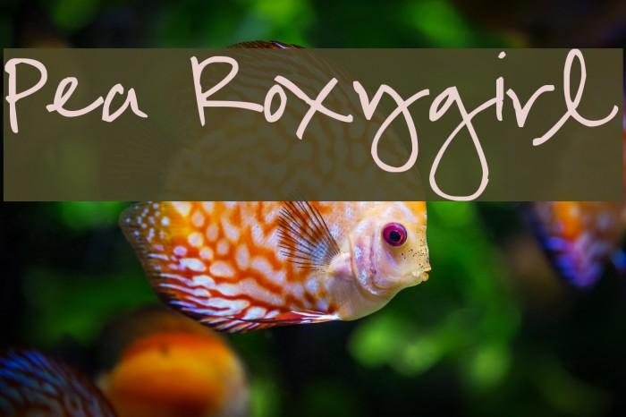Pea Roxygirl Font examples