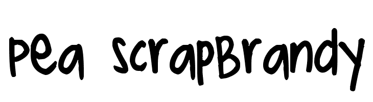 Pea ScrapBrandy  नि: शुल्क फ़ॉन्ट्स डाउनलोड