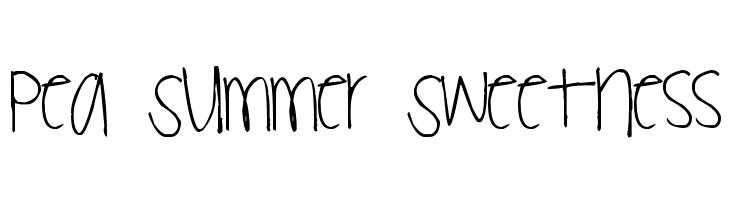 Pea Summer Sweetness  baixar fontes gratis