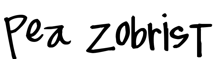 Pea Zobrist  Free Fonts Download