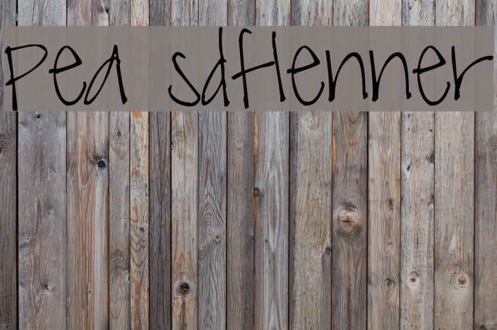 Pea sdflenner Font examples