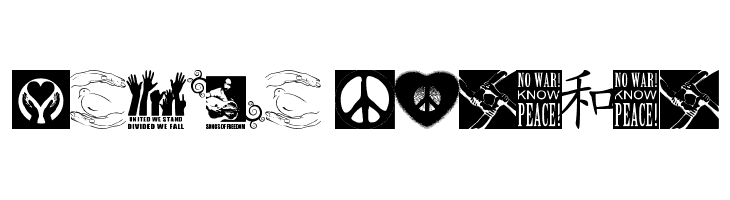 Peace FOREVER  Free Fonts Download