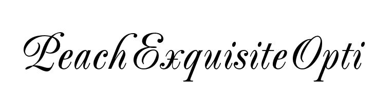 PeachExquisiteOpti  les polices de caractères gratuit télécharger