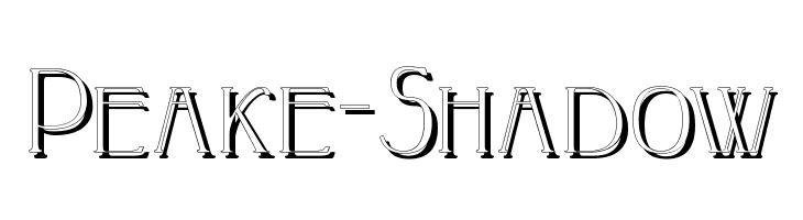 Peake-Shadow  Frei Schriftart Herunterladen