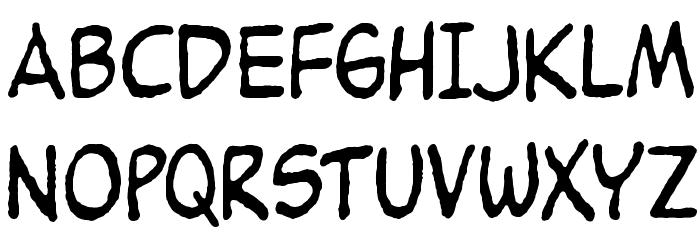 Peanuts Font UPPERCASE