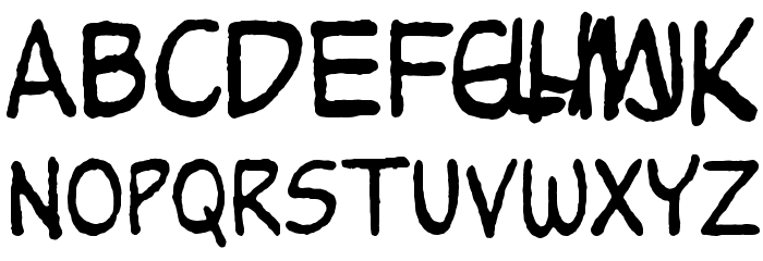 Peanuts Font LOWERCASE