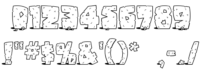 Pebbles Font OTHER CHARS