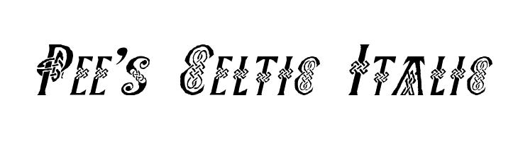 Pee's Celtic Italic  Descarca Fonturi Gratis