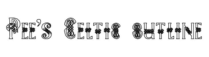 Pee's Celtic outline  Descarca Fonturi Gratis
