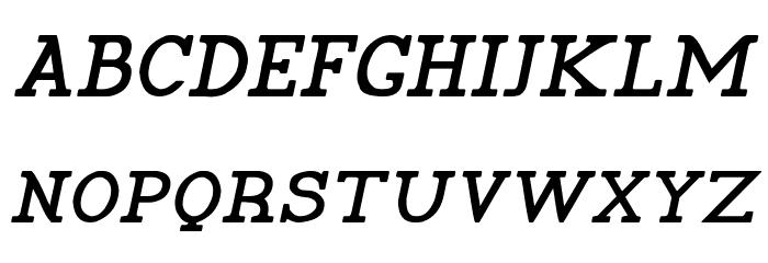 Pelida Italic Bold Font Litere mari