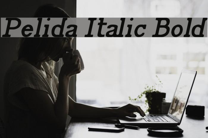 Pelida Italic Bold Font examples