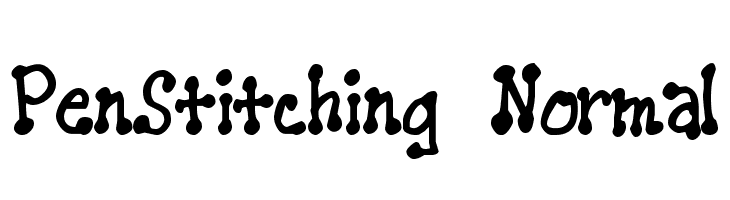 PenStitching Normal  Free Fonts Download