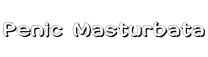 Penic Masturbata  Free Fonts Download