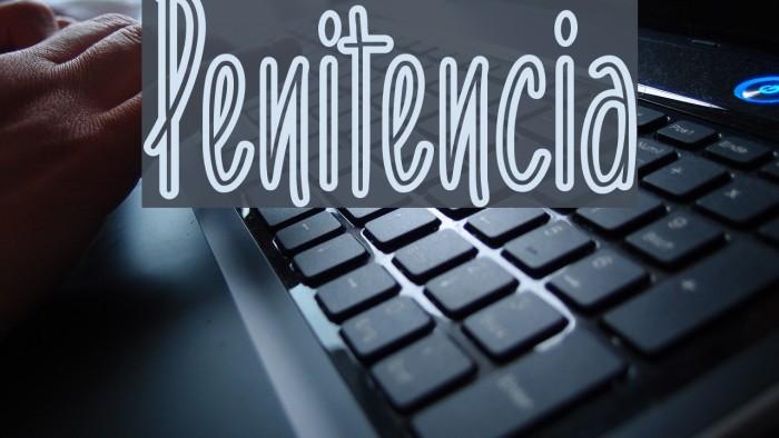 Penitencia फ़ॉन्ट examples