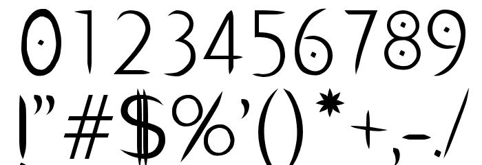 PentaGram s Salemica Eximius Regular Font OTHER CHARS