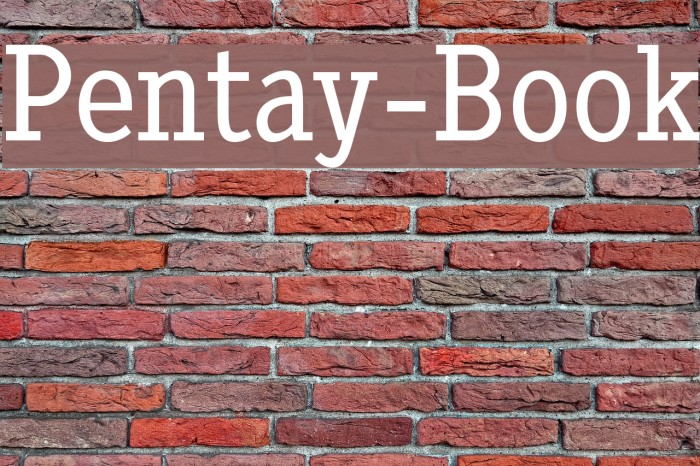 Pentay-Book Font examples